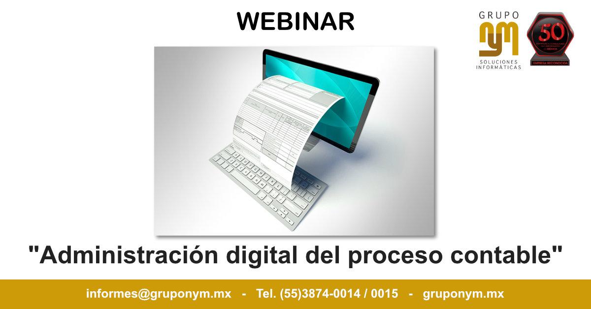 Administración digital del proceso contable.